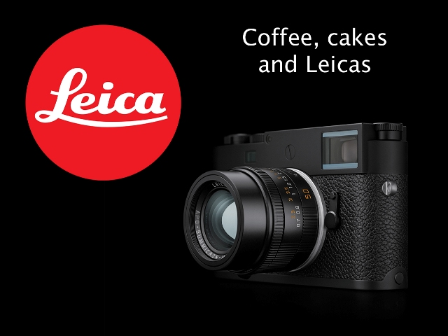 Coffee, cakes and Leicas