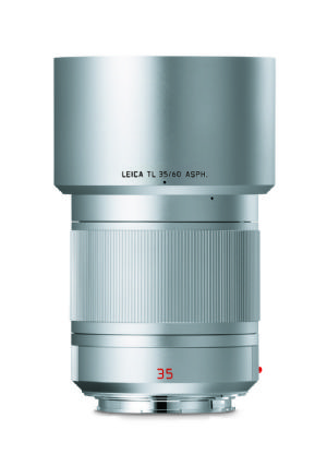 Leica 35mm f/1.4 Summilux-TL ASPH. Silver anodized finish