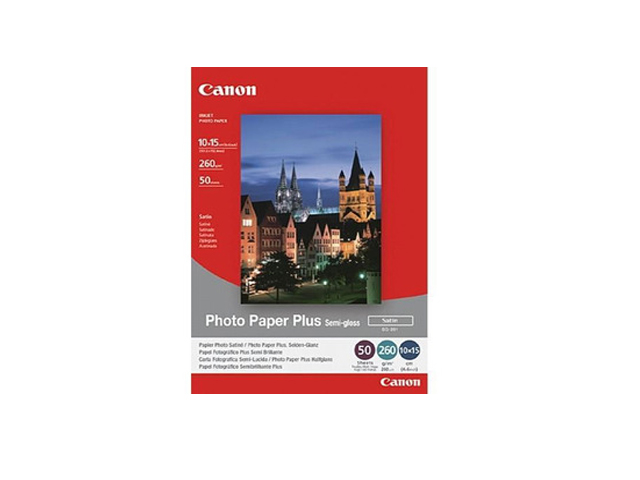 Canon (SG201) Semi-Gloss Satin 6x4 50 Sheets