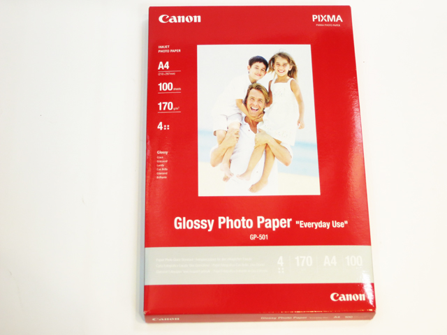 Canon (GP501) A4 EVERYDAY GLOSSY PHOTO PAPER 100 SHEETS