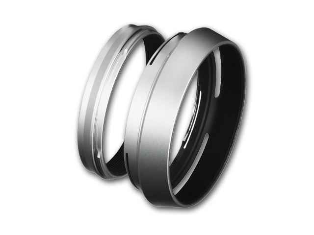 Fujifilm LH-X100 Lens Hood and Adapter Ring For X100/S/T/F (Silver)
