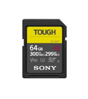 Sony 64Gb SDXC UHS-II G Series Tough Professional Memory Card SF-G64T