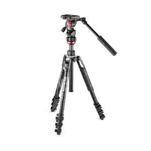 Manfrotto BeFree Live Advanced travel video tripod with lever leg locks