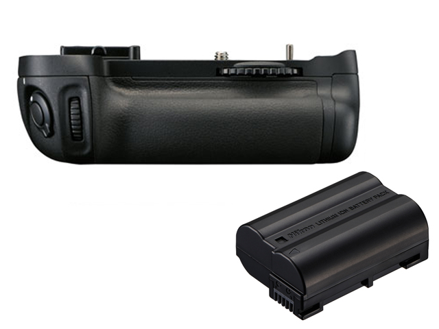 Nikon MB-D14 Portrait/battery Grip +EN-EL15a Battery Bundle (for Nikon D610/D600)
