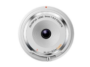 Olympus M.ZUIKO DIGITAL 9mm F8 Body Cap Fisheye White
