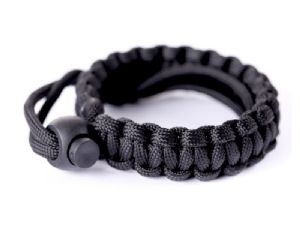 Summit Paracord Woven Wrist Strap in Black