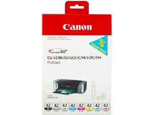 Canon CLI-42 BK/GY/LG/C/M/Y/PC/PM Multipack Ink Cartridge for Pixma Pro 100
