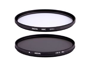 Hoya 55mm Multi-Coated UV & Slim Circular Polariser Twin Filter Kit