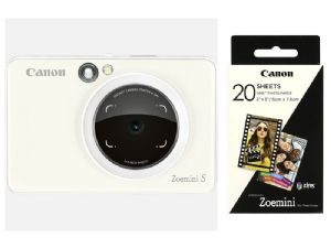Canon ZoeMini S Instant Camera with Bluetooth | Pearl White