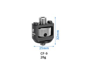 "Leofoto CF-9 Anti-Twist 3/8"" Male to 1/4"" Male Adapter"