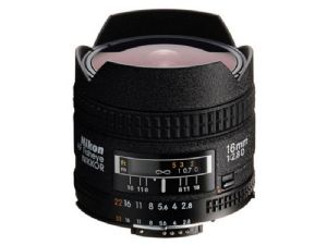 Nikon 16mm f/2.8 AF D FishEye (Full-Frame FX type)
