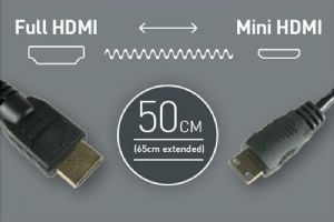 Atomos Full HDMI - Mini HDMI Coiled (50-65cm)