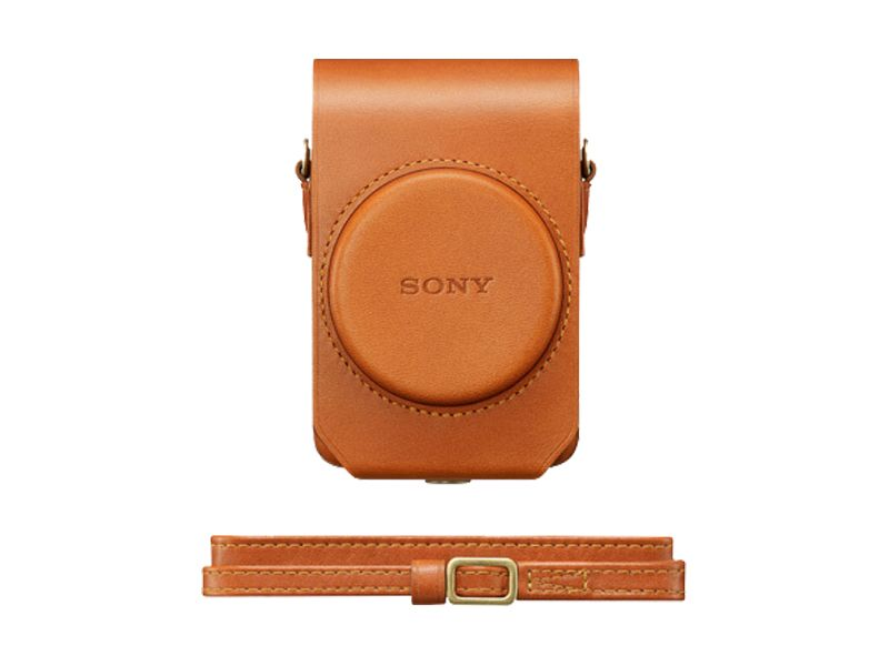 Sony LCS-RXG Tan Soft Leather Carry Case For Cyber-shot RX100 Series