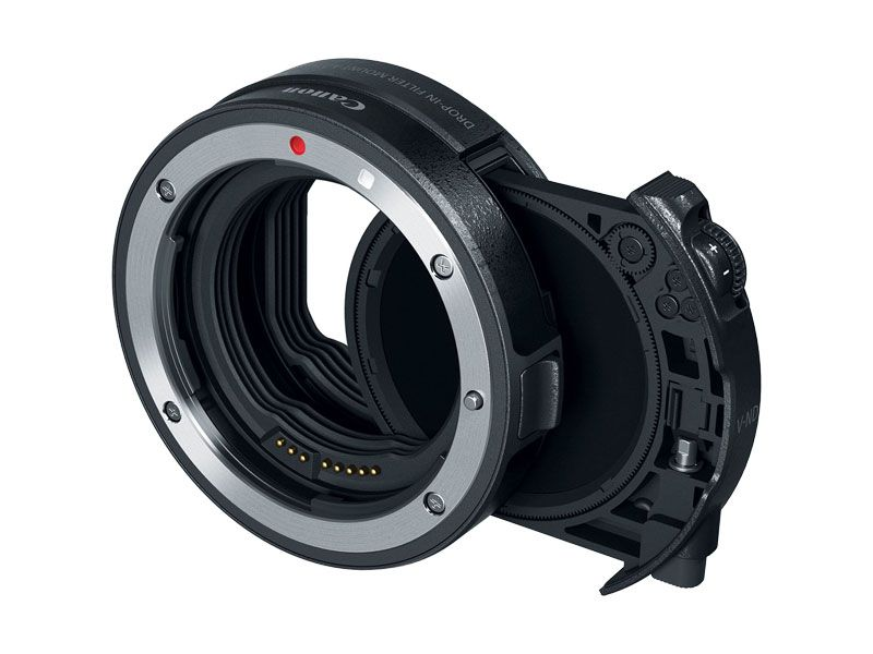 Canon Drop in Filter Mount Adapter EF-EOS R with Drop in variable ND filter A