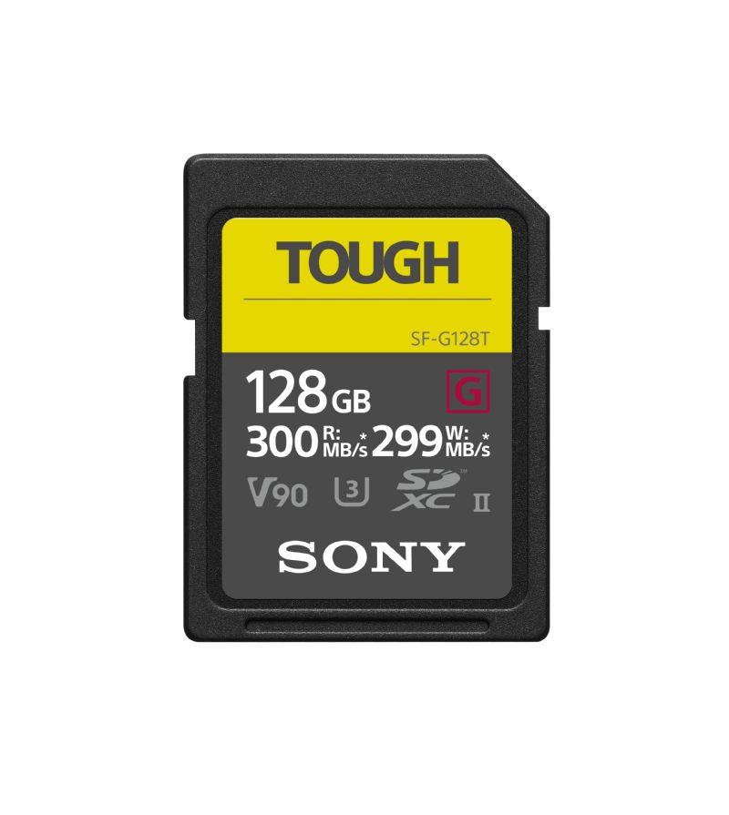 Sony 128Gb SDXC UHS-II G Series Tough Professional Memory Card SF-G128
