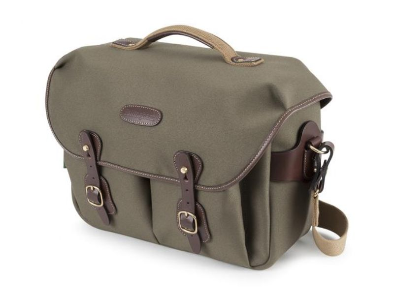 Billingham Hadley One Camera Bag Sage FibreNyte / Chocolate Leather