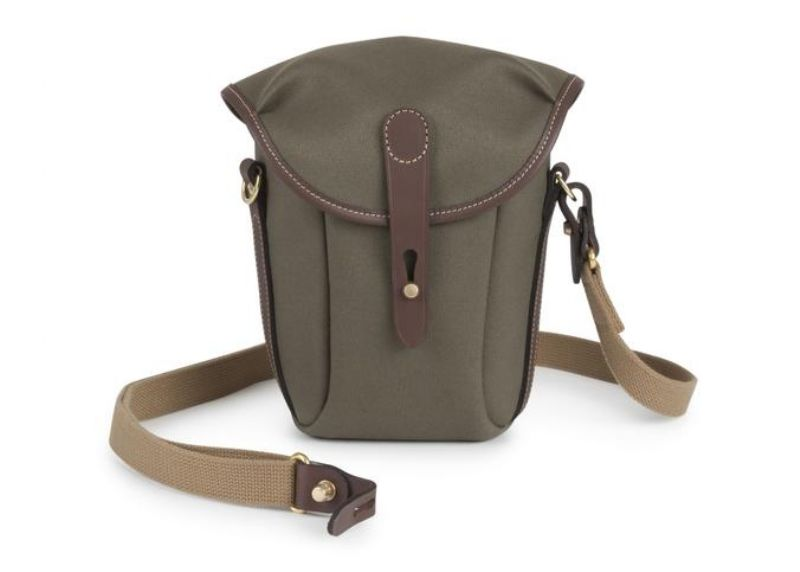 Billingham Galbin Binocular Case 10 Sage FibreNyte / Chocolate Leather