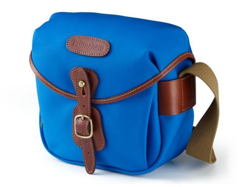 Billingham Hadley Digital Camera Bag Imperial Blue Canvas / Tan Leather