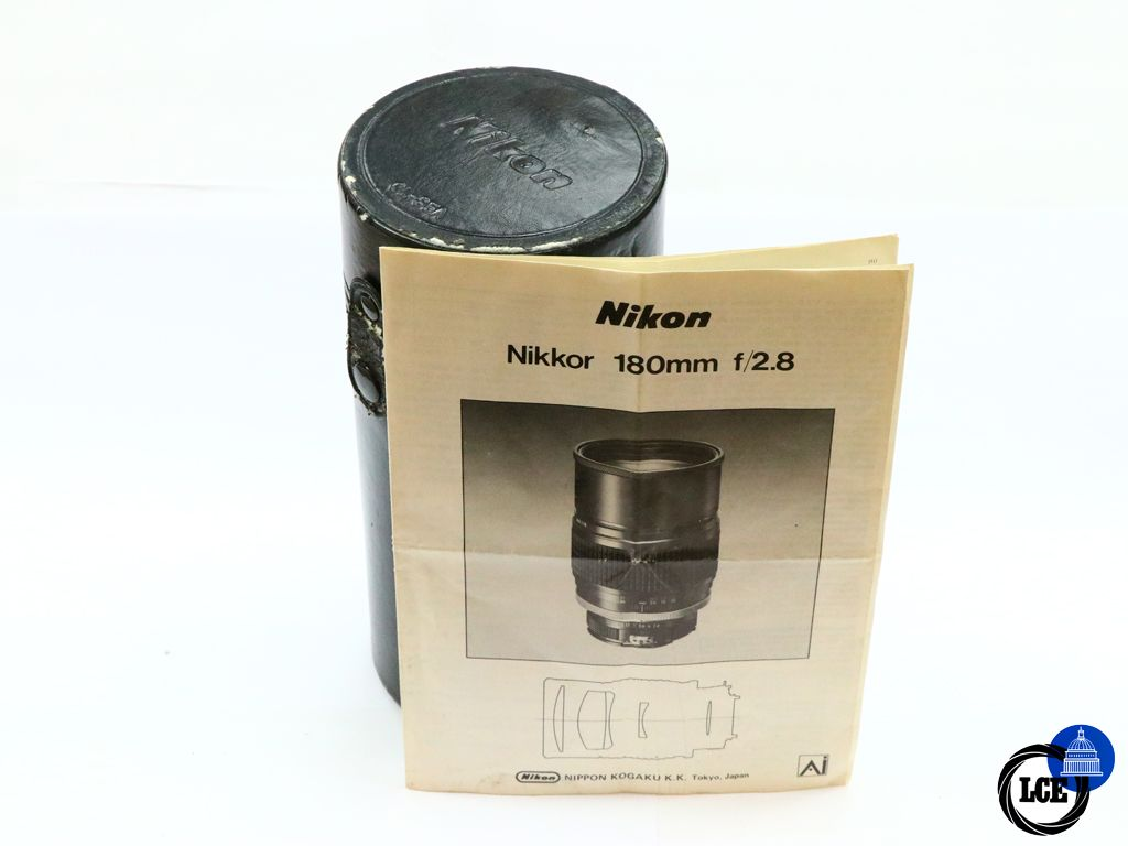 Nikon 180mm f/2.8 AI w/Case & Manual